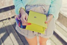 Betts clutch! Love the neon lime/yellow