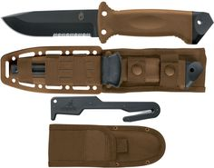 Gerber LMF II Survival (Coyote) Combat Knife Fixed 4.84 inch Blade, Safety Knife (22-01400)