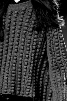 Grey Textured Sweater - contemporary knitwear design detail // Just Cavalli Fall 2012