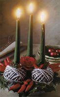 L' Albero di Natale: Centrotavola con gomitoli argentati