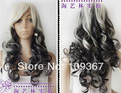 White and Black Ombre Wig | $19.02