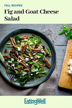 This quick and easy 10-minute fig salad recipe incorporates mixed greens, dried figs, goat cheese, almonds, balsamic vinegar and honey to create the ultimate fall recipe. Whether you're eating this fig recipe as a quick and easy weeknight dinner, a fall lunch, side dish or appetizer, it's a great choice for a goat cheese recipe.#figrecipes #saladrecipes #fallrecipes #fallsalads