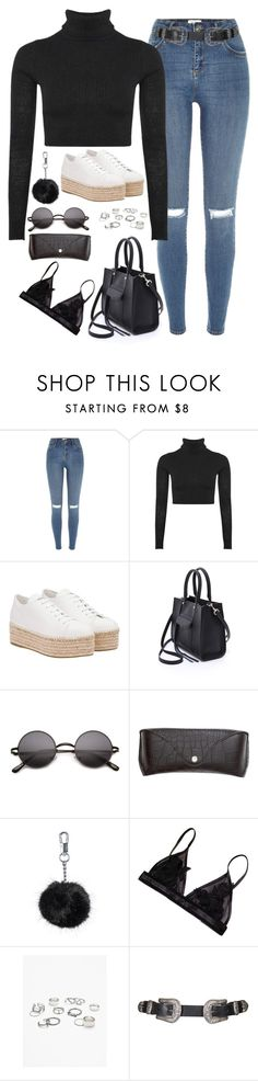 """Untitled#4514"" by fashionnfacts ❤ liked on Polyvore featuring River Island, Boohoo, Miu Miu, Rebecca Minkoff, H&M, Topshop and Free People"