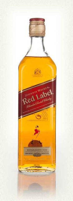 Johnnie Walker Red Label scotch whisky -- surprisingly good. Rich, smooth, easy drinking.