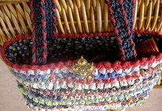 A site with a TON of great info on crocheting with fabric, lining bags, using recycled materials, etc.