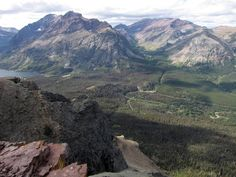 #hiking #montana The view from Scenic Point on Mount Henry in Two Medicine, Glacier National Park, Montana, USA