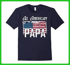 """Mens """"All American Papa"""" Flag Father's Day 4th of July T Shirt 2XL Navy - Holiday and seasonal shirts (*Amazon Partner-Link)"""