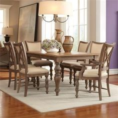Windhaven Legged Dining Table I Riverside Furniture