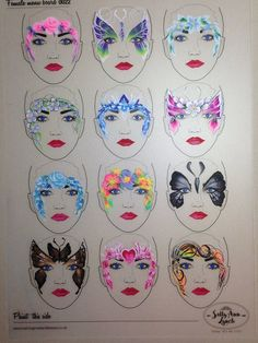 Face painting examples are very useful in the art of face painting. One of the greatest things about face painting examples, is that there are many reference Adult Face Painting, Face Painting Tips, Face Painting Tutorials, Face Painting Designs, Mask Face Paint, Face Paint Makeup, Art Visage, Stencil Painting, Tole Painting