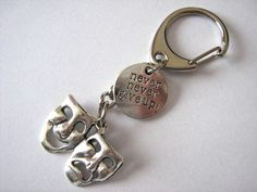 Theatre Keychain Comedy Tragedy Keyring Inspirational Gift Drama Director Actor Actress Thespian Am Dram Gift by Forgetmenotgrove on Etsy https://www.etsy.com/listing/185526882/theatre-keychain-comedy-tragedy-keyring