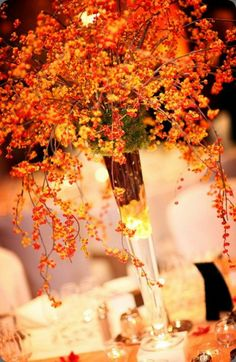 Perfect centerpiece idea for a fall wedding