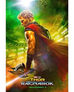 """161.5k Likes, 1,560 Comments - Marvel Entertainment (@marvel) on Instagram: """"The brand new poster for #ThorRagnarok has arrived! Head over to Marvel.com or our YouTube to watch the teaser trailer now."""