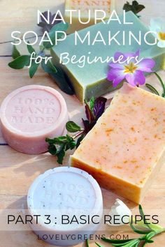 Natural Soapmaking for Beginners: Basic Soap Recipes & Formulating Your Own Easy soap recipes that are simple to make and use all natural ingredients. This is part three of the Natural Soap Making for Beginners Series. Soap Making Recipes, Homemade Soap Recipes, Homemade Crafts, Cold Press Soap Recipes, Diy Beauté, Savon Soap, Soap Making Supplies, Homemade Beauty Products, Cold Process Soap