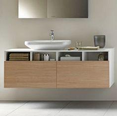 Mobile lavabo moderno / in legno / sospeso / con cassetti #DS6785 L/R by Matteo Thun DURAVIT