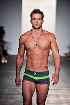 Not underwear but swimwear, still...the green stripe is nice.
