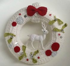 No l and tricot et crochet on pinterest - Couronne de noel a fabriquer ...