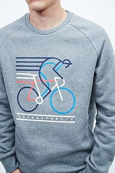 Le Coq Sportif No. 5 Bicycle Sweatshirt in Grey - Urban Outfitters