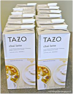 What makes me happy - Tazo Chai Tea Latte!  Love this stuff.  Mainly because it's right in the fridge in the morning!  Add milk, pour over ice and you're good to go!