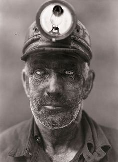 """""""coal miner... haunting..."""" was the original comment with this... This Ohio was taken in 1944 yet how is it haunting? This man still represents our world today.. It isn't haunting, it's real."""