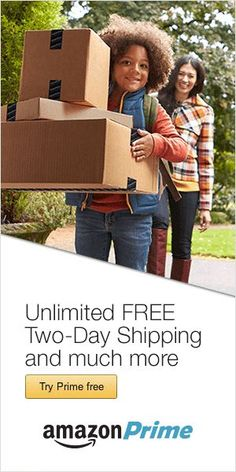 Need more time to order and ship gifts? Try a FREE trial of Amazon Prime and get extra FREE shi...