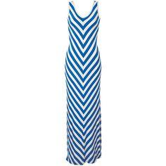 Kimmy Chevron-Stripe Maxi Dress ❤ liked on Polyvore