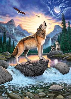 Diy diamond painting Freedom Wolf cross stitch square rhinestone pictures of crystals embroidery patchwork Needlework crafts home makeover -- AliExpress Affiliate's Pin. Clicking on the image will lead you to find similar product Wolf Photos, Wolf Pictures, Beautiful Wolves, Animals Beautiful, Beautiful Artwork, Fuchs Baby, Wolf Artwork, Wolf Painting, Fantasy Wolf