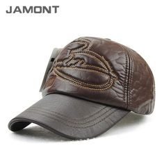 25f3f62085f6b Winter Travel PU Leather Baseball Cap