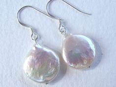 Pearl  silver earrings Bridal or everyday  by Eva by EvasJewellery, $11.00