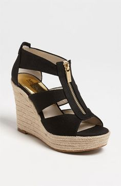 MICHAEL Michael Kors 'Damita' Wedge Sandal available at #Nordstrom - LOVE these.  Maybe worth a splurge since I have a gift certificate burning a hole in my pocket...