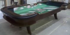 """10' or 12' craps table w/ """"H"""" style legs"""