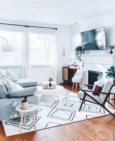 Living Pequeños, Boho Living Room, Living Room Decor, Small Living, Modern Living, Dark Wood Floors Living Room, Decor Room, Cozy Living, Living Rooms