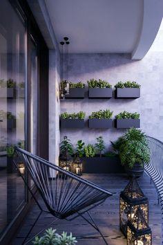 Vaso de Parede: +56 Ideias Lindas para Decorar sua Casa Small Balcony Design, Small Balcony Garden, Small Balcony Decor, Terrace Design, Garden Design, Modern Balcony, Balcony Plants, Balcony Ideas, French Balcony