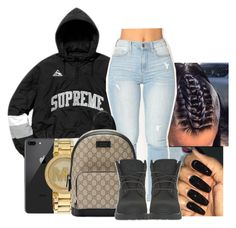 """""""Its Very Unlikely My Wrist Aint Lookin Icy"""" by jaysational on Polyvore featuring Michael Kors, Gucci and Timberland"""