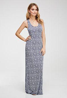 Tribal Print Maxi Dress   Love21 - 2052287934