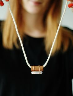Tutorial: Diy Copper Pipe Qauartz Necklace - Click the image for the Tutorial!