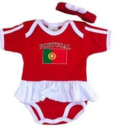 PAM GM Portugal Baby Girl Soccer Ruffle Bodysuit 6 Months *** You can get more details by clicking on the image. (This is an affiliate link) #BabyGirlBodysuits