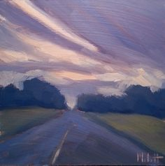 Heidi Malott Original Paintings: Summer Sunset Landscape Oil Painting Impressionism...