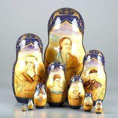 Peter The Great & Czars Nesting Dolls