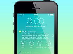 Notification Options - Lock Screen for iOS 7 by Joshua Tucker