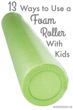13 Ways to Use a Foam Roller With Kids The Inspired Treehouse - A foam roller is fairly cheap and there are so many developmental skills that you can promote by using one! Gross Motor Activities, Gross Motor Skills, Sensory Activities, Sensory Rooms, Physical Activities For Kids, Work Activities, Sensory Play, Occupational Therapy Activities, Pediatric Occupational Therapy