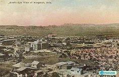 Vintage post card: Bird's-eye view of Kingman, AZ
