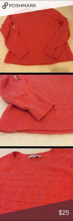 Pink knit sweater, Loft, Large Pink sweater from Loft LOFT Sweaters Crew & Scoop Necks