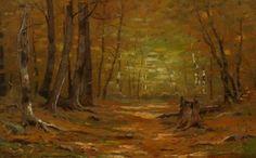Autumn Interior by Leonard Ochtman