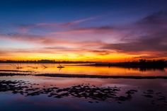 Sunset on the Mekong river seen from Don Kho Island. by Chris.E