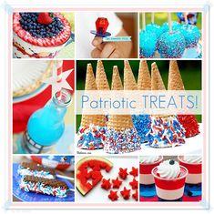 Easy Yummy Patriotic Treats!    #4thofjuly #recipes