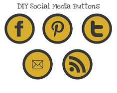 Great Tutorial on Social Media Buttons (I'm great with code, but I just swear at Photoshop!)