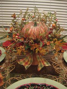 Kristen's Creations: ~~Pumpkin Arrangements~~Get Ready For Fall! Pumpkin Arrangements, Floral Arrangements, Pumpkin Centerpieces, Centrepieces, Fall Home Decor, Holiday Decor, Adornos Halloween, Vibeke Design, Autumn Decorating