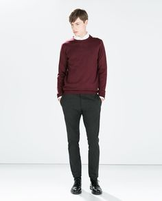 Image 1 of ELASTIC GREY TROUSERS from Zara