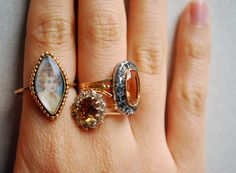 vintage rings, victorian style