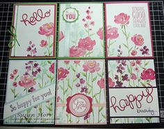 Painted Blooms Designer Series Paper, Hello Thinlits, Stampin Up, susanstamps.wordpress.com